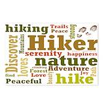 Hiker Word Cloud Postcards (Package of 8)