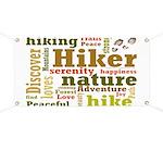 Hiker Word Cloud Banner