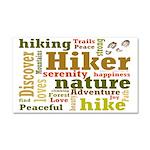 Hiker Word Cloud Car Magnet 20 x 12