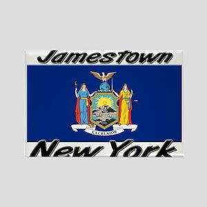 Jamestown New York Rectangle Magnet