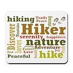 Hiker Word Cloud Mousepad