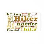 Hiker Word Cloud Aluminum License Plate