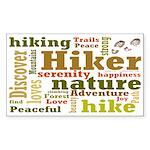 Hiker Word Cloud Sticker