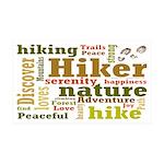 Hiker Word Cloud Wall Decal