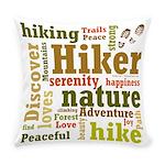 Hiker Word Cloud Everyday Pillow
