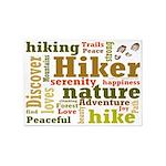 Hiker Word Cloud 5'x7'Area Rug