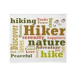 Hiker Word Cloud Throw Blanket