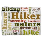 Hiker Word Cloud Pillow Sham