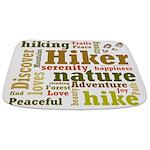 Hiker Word Cloud Bathmat