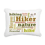 Hiker Word Cloud Rectangular Canvas Pillow
