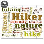 Hiker Word Cloud Puzzle