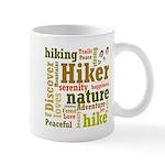 Hiker Word Cloud Mugs
