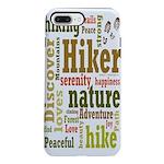 Hiker Word Cloud iPhone 8/7 Plus Tough Case