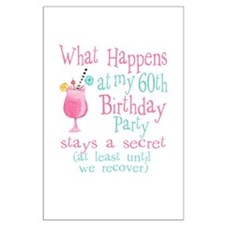 Fun 60th Birthday Party Large Poster