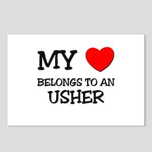 My Heart Belongs To An USHER Postcards (Package of