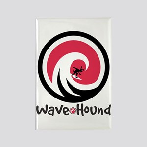 Wave Hound Circle Rectangle Magnet
