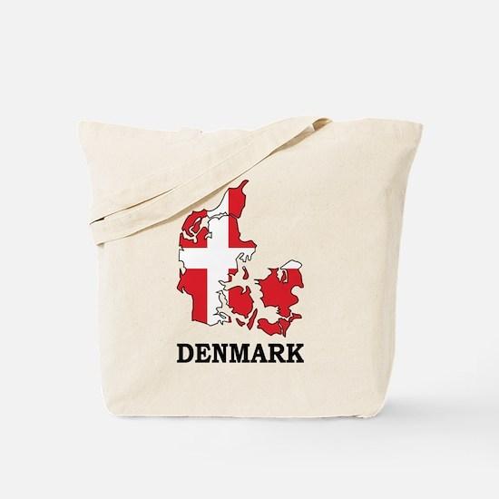 Denmark Map Tote Bag