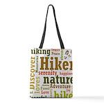 Hiker Word Cloud Polyester Tote Bag