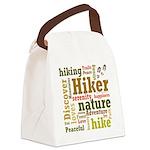 Hiker Word Cloud Canvas Lunch Bag