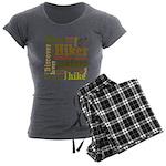 Hiker Word Cloud Women's Charcoal Pajamas