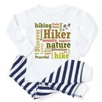 Hiker Word Cloud Toddler Pajamas