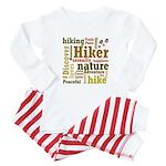 Hiker Word Cloud Baby Pajamas