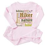 Hiker Word Cloud Toddler Pink Pajamas
