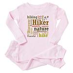 Hiker Word Cloud Baby Pink Pajamas