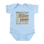 Hiker Word Cloud Body Suit