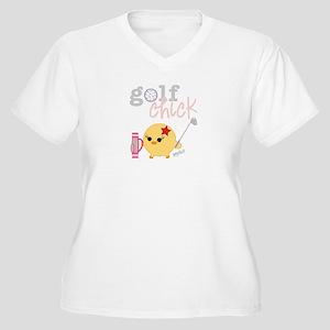 Golf Chick Women's Plus Size V-Neck T-Shirt