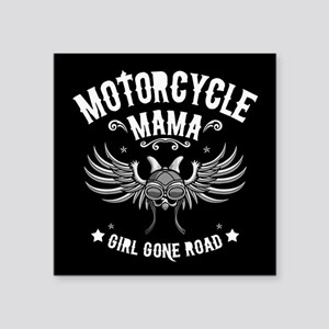 "Girl Gone Road Square Sticker 3"" x 3"""