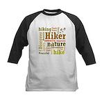 Hiker Word Cloud Baseball Jersey