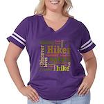 Hiker Word Cloud Women's Plus Size Football T-Shir
