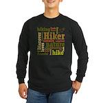 Hiker Word Cloud Long Sleeve T-Shirt
