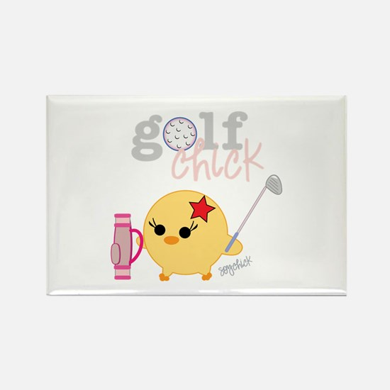 Golf Chick Rectangle Magnet