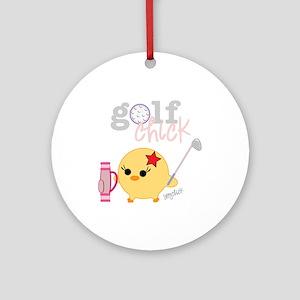Golf Chick Ornament (Round)