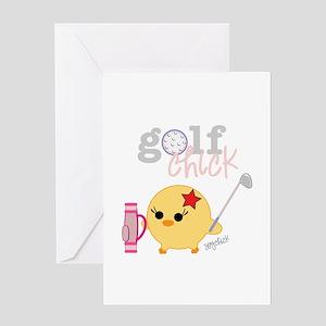 Golf Chick Greeting Card