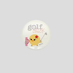 Golf Chick Mini Button