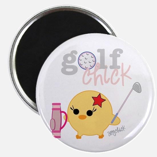 "Golf Chick 2.25"" Magnet (10 pack)"