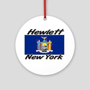 Hewlett New York Ornament (Round)