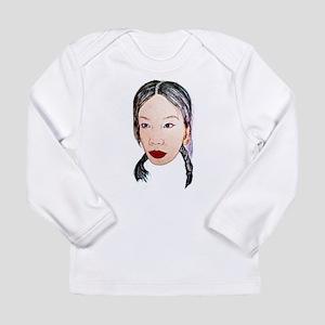 Asian beauty lady woman girl j Long Sleeve T-Shirt