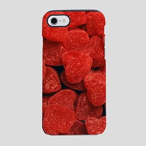 Red Gumdrop Hearts iPhone 8/7 Tough Case