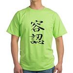 Acceptance - Kanji Symbol Green T-Shirt