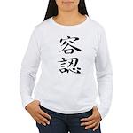 Acceptance - Kanji Symbol Women's Long Sleeve T-Sh