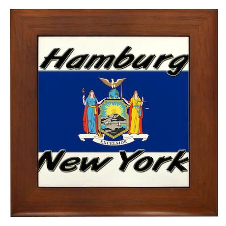 Hamburg New York Framed Tile