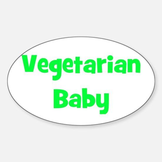 Vegetarian Baby - Multiple Co Oval Decal