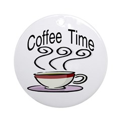 Coffee Time Round Ornament
