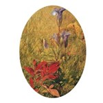 Classic Flowers Christmas Keepsake (Oval)