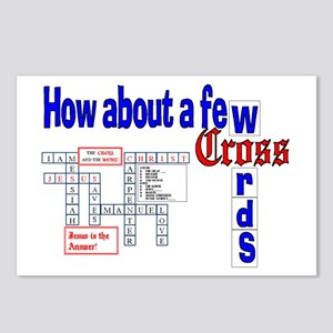 Christian Gifts: Cross Words  Postcards 8 Pack