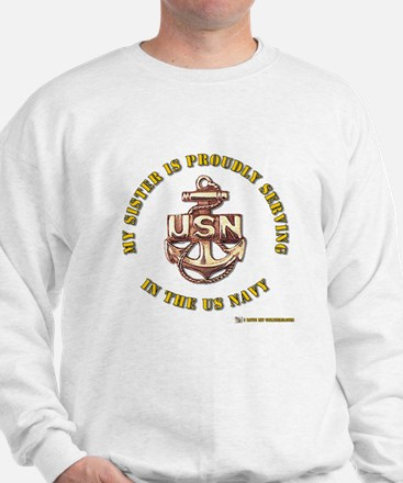 Navy Gold Sister Sweatshirt